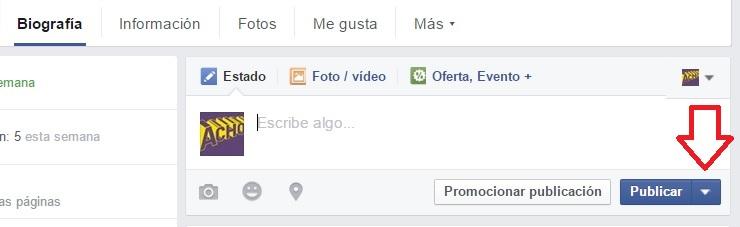 programar una publicacion en facebook 2