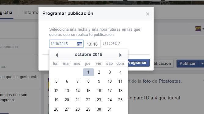 programar una publicacion en facebook 5