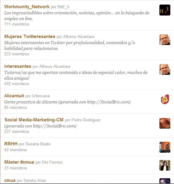 algunos ejemplos de listas de @laurymat