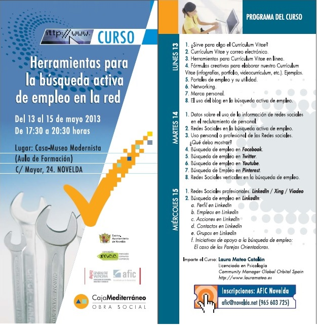 Folleto curso Novelda