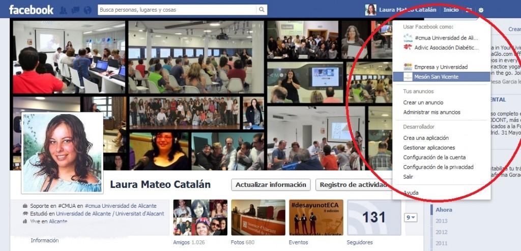 Eliminar página en Facebook. Paso 1. Laura Mateo.