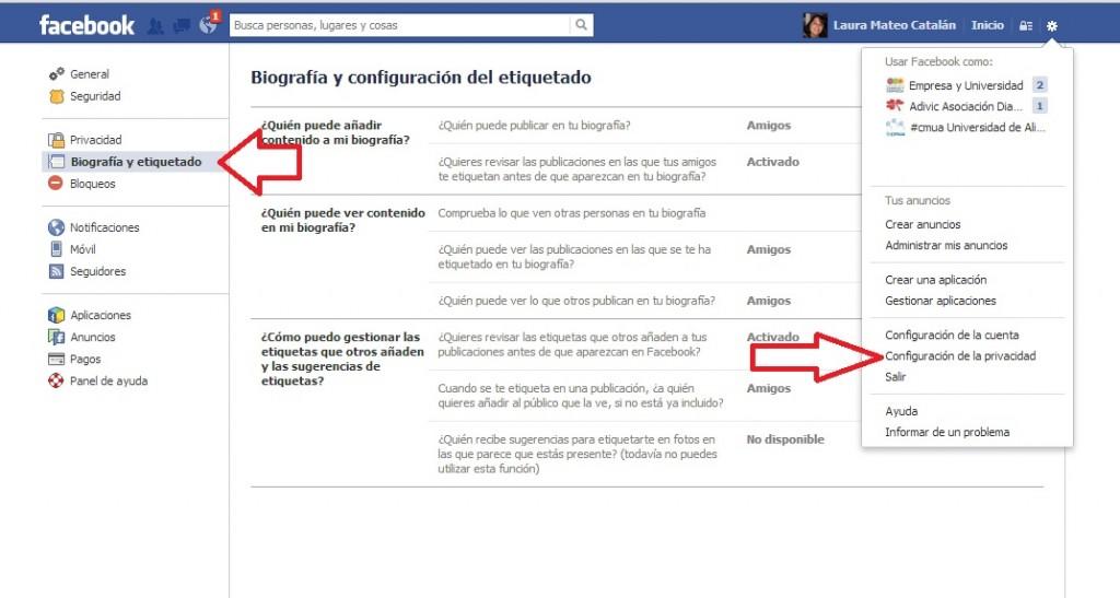 ver como ven tu perfil de facebook