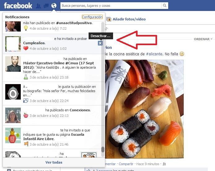 Bloquear aplicaciones o juegos en Facebook. paso