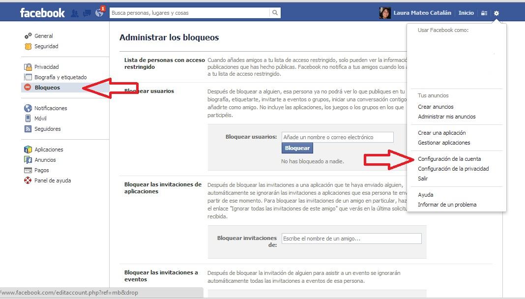Bloquear aplicaciones o juegos en Facebook. paso 4