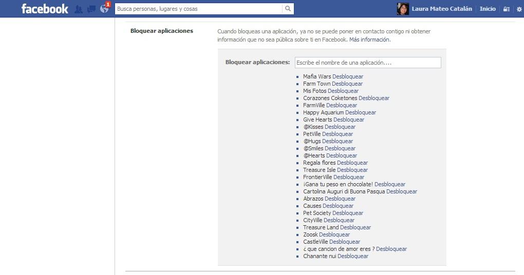 Bloquear aplicaciones o juegos en Facebook. paso 5