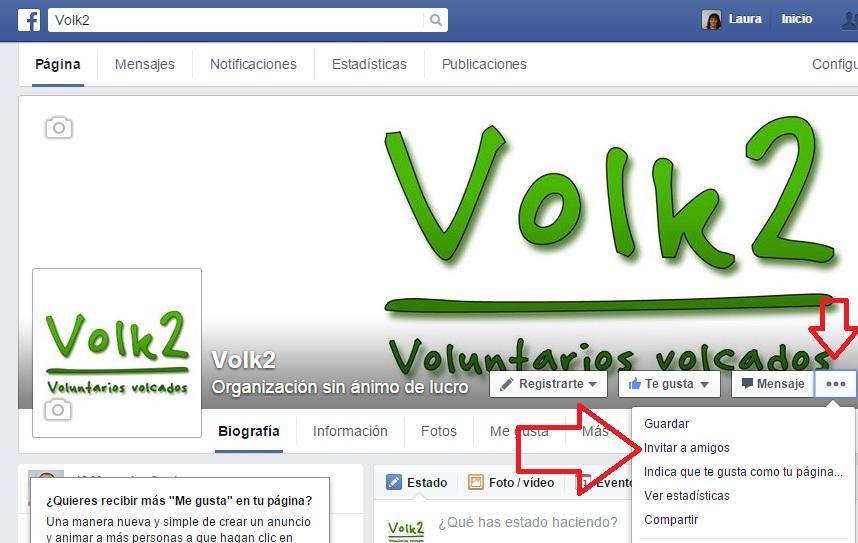 invitar a amigos a que se hagan fans de tu página de facebook