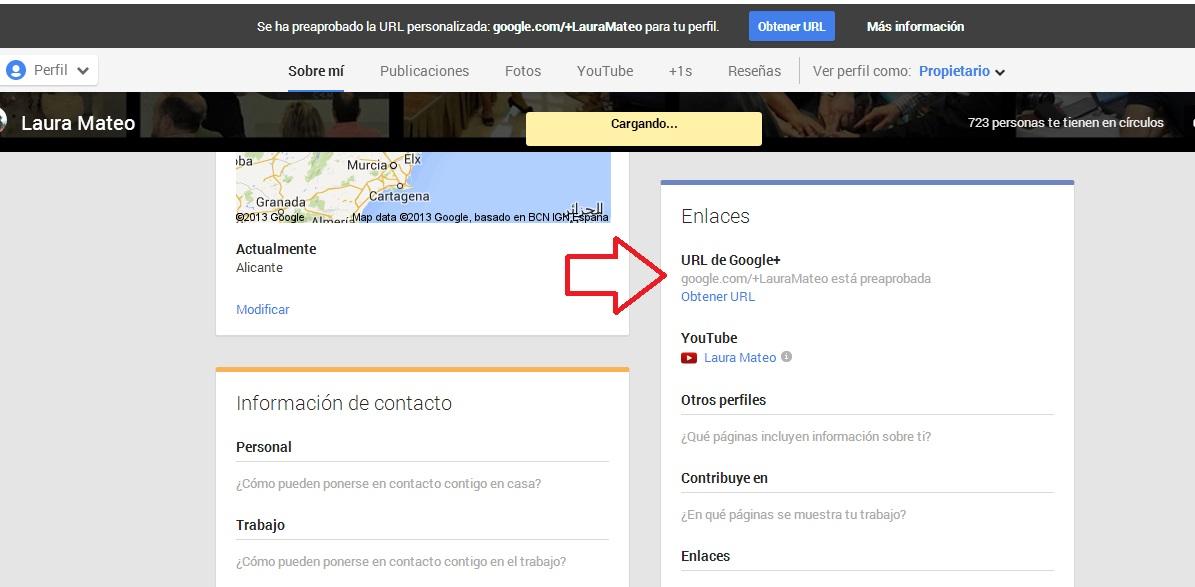 personalizar URL google plus