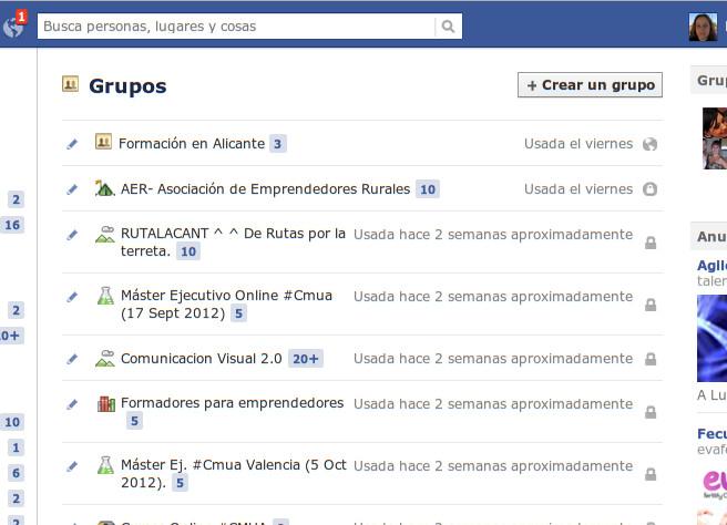 Crear un grupo en Facebook