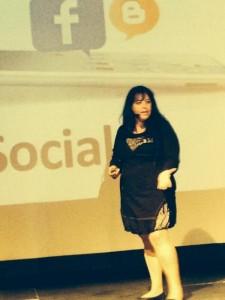 Mi intervención en #socialmediabalmis. Foto CoqueVC