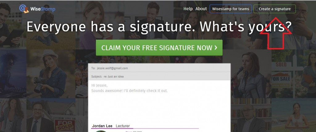 Firma con wisestamp1