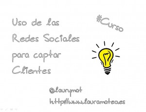 Curso Uso de las redes sociales para captar clientes Cámara Comercio Alicante Laura Mateo