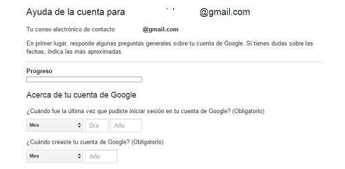 paso5. Recuperar contraseña gmail