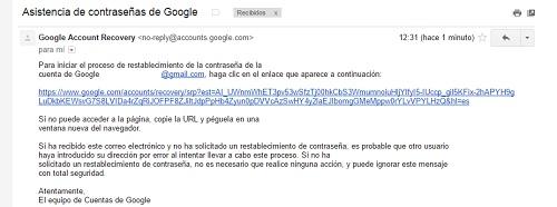 paso8. Recuperar contraseña gmail
