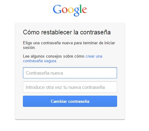 paso9. Recuperar contraseña gmail