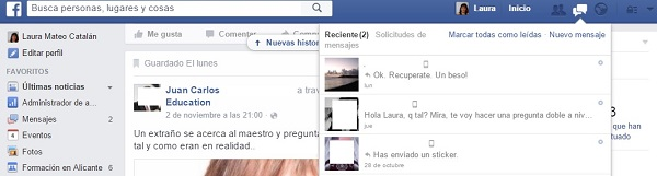 message request o peticiones de mensaje en facebook