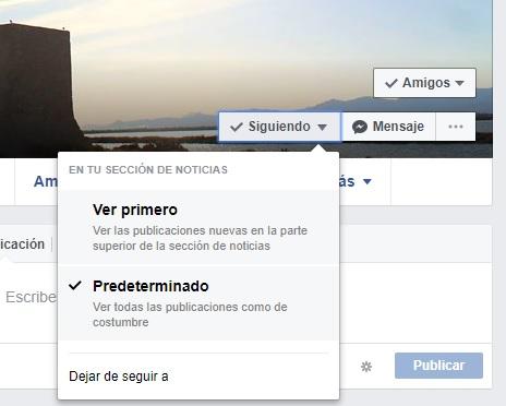 dejar seguir perfil en facebook