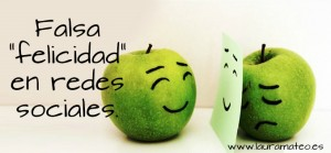 Falsa felicidad en redes sociales